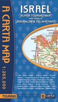 Carta Israel Super Touring Map