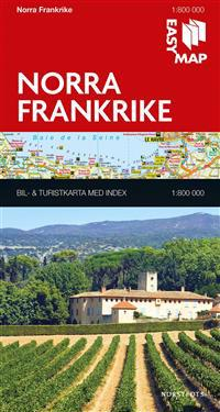 Norra Frankrike EasyMap : 1:800000