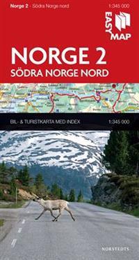 Södra Norge nord EasyMap : 1:345000
