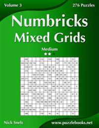 Numbricks Mixed Grids - Medium - Volume 3 - 276 Puzzles