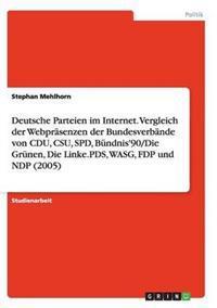 Deutsche Parteien Im Internet. Vergleich Der Webprasenzen Der Bundesverbande Von Cdu, CSU, SPD, Bundnis'90/Die Grunen, Die Linke.Pds, Wasg, Fdp Und Ndp (2005)