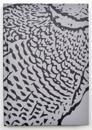 Kiji skrivbok A6 gråmönstrad linjerad