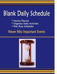 Blank Daily Schedule