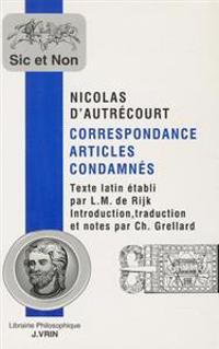 Correspondance Articles Condamnes