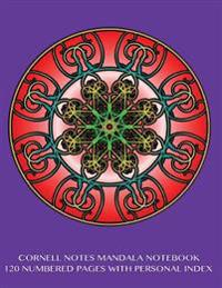 "Cornell Notes Mandala Notebook 120 Numbered Pages with Personal Index: Journal for Cornell Notes with Study Mandala Purple Cover - 8.5""x11"" Ideal for"