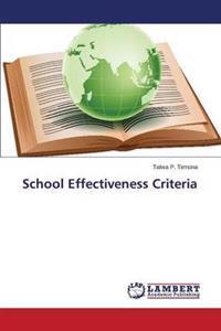 School Effectiveness Criteria