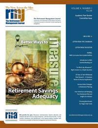 The Retirement Management Journal: Vol. 4, No. 2, Academic Peer Review Committee Issue