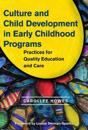 Culture and Child Development in Early Childhood Programs