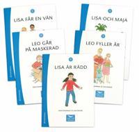 Läsa Lätt Versaler 1, fem olika böcker