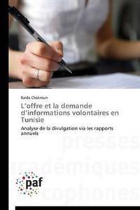 L Offre Et La Demande D Informations Volontaires En Tunisie