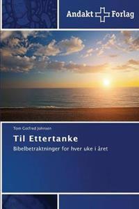 Til Ettertanke - Johnsen Tom Gotfred | Inprintwriters.org
