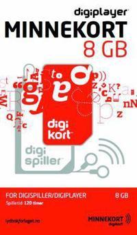 Minnekort 8 GB. For Digispiller/Digiplayer