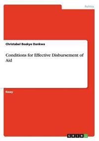 Conditions for Effective Disbursement of Aid