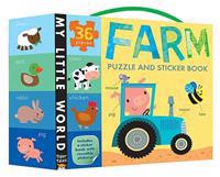 Farm Puzzle and Sticker Book Set