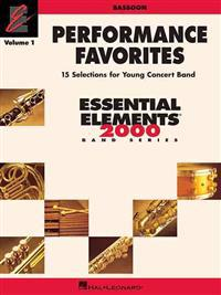 Performance Favorites, Vol. 1 - Bassoon: Correlates with Book 2 of Essential Elements for Band