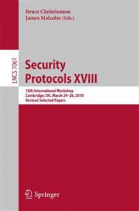 Security Protocols XVIII