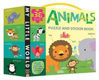 Animals Puzzle and Sticker Book Set