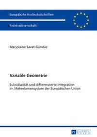 Variable Geometrie: Subsidiaritaet Und Differenzierte Integration Im Mehrebenensystem Der Europaeischen Union