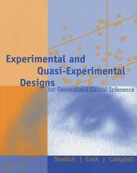 Experimental and quasi-experimental designs for generalized causal inferenc