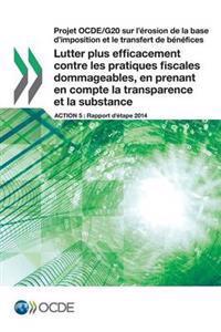 Projet Ocde/G20 Sur L'Erosion de la Base D'Imposition Et Le Transfert de Benefices Lutter Plus Efficacement Contre Les Pratiques Fiscales Dommageables, En Prenant En Compte La Transparence Et La Substance