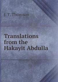 Translations from the Hakayit Abdulla