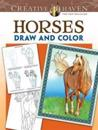 Horses Draw and Color Adult Coloring Book