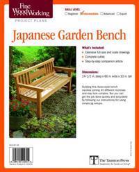 Fine Woodworking's Japanese Garden Bench Plan
