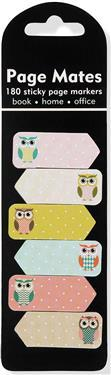 Owls Page Mates (Set of 180 Sticky Notes, Page Markers)
