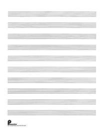 Musipack 3 Ring Filler No. 2: 10-Stave: Passantino Manuscript Paper