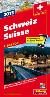 Schweiz 2015 Hallwag karta : 1:303000