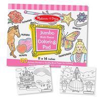 Jumbo Multi-theme Coloring Pad - Pink Coloring Book