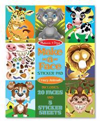 Make-a-Face Sticker Pad - Crazy Animals