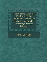 Trois Mois Chez Les Zoulous Et Les Derniers Jours Du Prince Impérial - Primary Source Edition