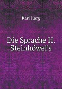 Die Sprache H. Steinhowel's