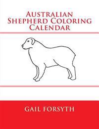 Australian Shepherd Coloring Calendar