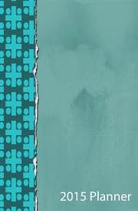 2015 Planner: Teal Ripped Paper