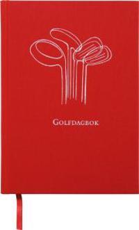 Golfdagbok Inbunden Textil Röd A5