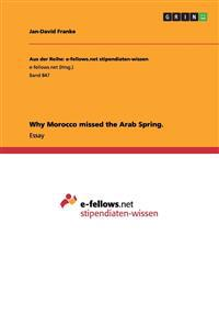 Why Morocco Missed the Arab Spring.