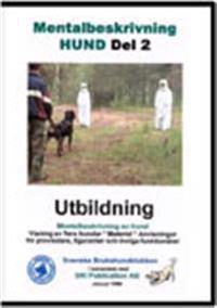 DVD Mentalbeskrivning Hund Del 2 kuvert - Roland och Inki Sjösten pdf epub