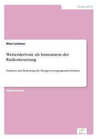 Wetterderivate ALS Instrument Der Risikosteuerung