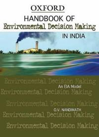 Handbook of Environmental Decision Making in India