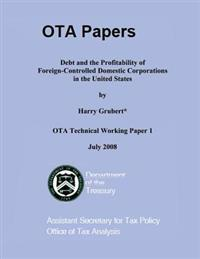 Debt and the Profitability of Foreign-Controlled Domestic Corporations in the United States