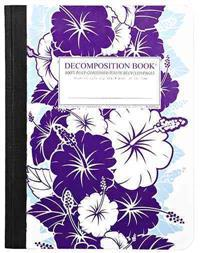 Purple Hibiscus Large 2 Color Decomposition Ruled Book