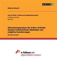 Abweichungsanalyse Der Erl se. Kritische Analyse Herk mmlicher Methoden Und M gliche Erweiterungen