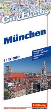 München City Flash Hallwag stadskarta : 1:17 000