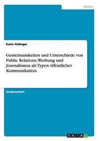 Gemeinsamkeiten Und Unterschiede Von Public Relations, Werbung Und Journalismus ALS Typen Offentlicher Kommunikation.