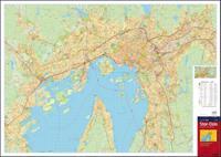 Stor-Oslo; bykart = city map = Stadtplan = plan de ville