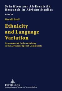 Ethnicity and Language Variation