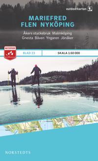Outdoorkartan Mariefred Flen Nyköping : Blad 23 skala 1:50000
