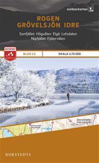 Outdoorkartan Rogen Grövelsjön Idre : Blad 13 skala 1:75000